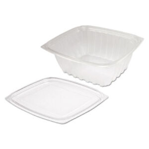 Clearpac Clear Container Lid Combo pack 6 1 2 X 7 1 2 X 2 7 63 pack 4 Pk ctn