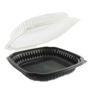 Culinary Classics Microwavable Container 39 Oz Clear black 100 carton