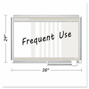 In out Magnetic Dry Erase Board 36x24 Silver Frame