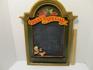 Chalk Menu Board today s Special Wood 3d Chef Chasing Chicken Hand Painted