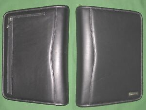 Classic 1 5 Black Leather Franklin Covey Planner Binder Organizer Zip 4266