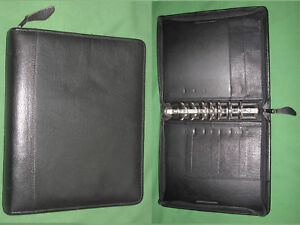 Classic 1 5 Black Top Grain Leather Franklin Quest Covey Planner Binder 5678