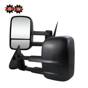 Manual Towing Extended Side Mirrors For 99 02 Chevy Silverado 1500 2500 3500 Hd