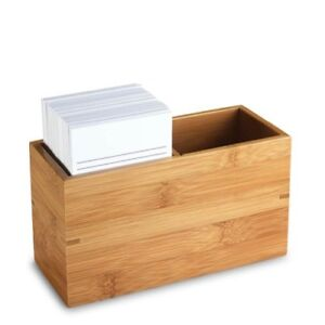 Levenger Nantucket Note Card Box With Cards