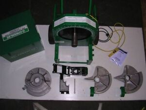 Barely Used Greenlee 555 Conduit Pipe Bender 3 Shoes 2 Rollers Emt Real Beauty