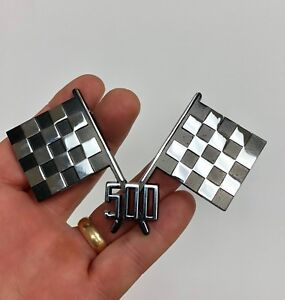 1956 Dodge D 500 Royal Lancer Checkered Flag Hood Badge Emblem Hot Rod Rat Rod