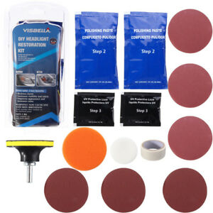 Headlight Car Lens Restoration Repair Kit Polishing Cleaner Tool Professional To