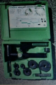 Greenlee 7906sb Quick Draw 90 Hydraulic Knockout Punch Driver Set Gently Used
