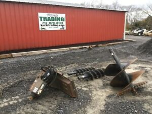2008 Bobcat 30c Post Hole Digger Attachment W 3 Augers For Skid Steer Loaders