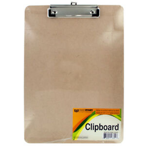 Set Of 12 Bulk Lot Wooden Clipboard With Metal Clip