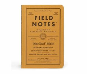 Brand New Sealed Field Notes Dime Novel 2 pack Notebooks Blank Paper Book Pages
