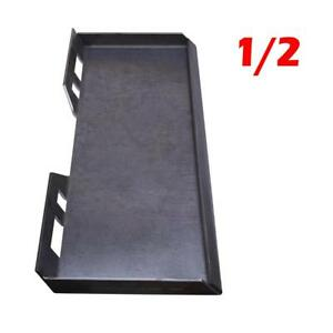 1 2 Quick Tach Attachment Mount Plate Skidsteer For Kubota Bobcat Skid Steer