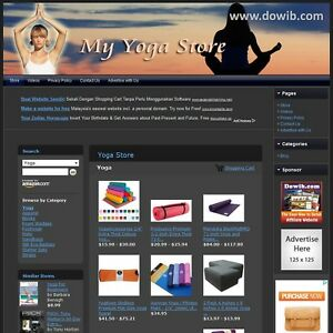 Yoga Store Fully Automated Affiliate Website Amazon Google Adsense Business