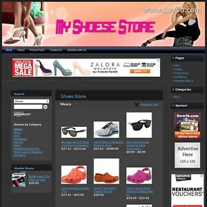 Shoes Store Online Designed Affiliate Website For Sale Free Domain Hosting