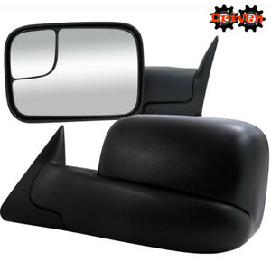 Manual Towing Extended Flip Up Side Mirrors 94 02 Dodge Ram 1500 2500 3500