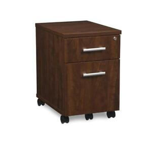 Fulcrum Series Locking Pedestal Mobile 2 drawer Filing Cabinet Cherry