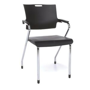 Smart Series Stack Chair Black