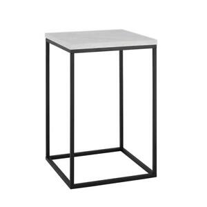 16 Urban Industrial Side Table White Faux Marble
