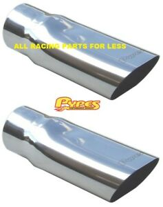 Pypes Stainless Steel Exhaust Tips 3 Inch In 3 1 2 Inch Out 1 Pr Evt56