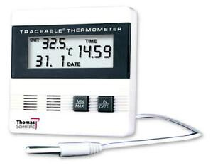 Thomas Traceable Recording Thermometer With Time date min max Memory 40 To 17