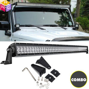 52inch 700w Spot Flood Led Work Light Bar Offroad Driving Suv Jeep Car 4wd Boat