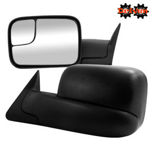 Manual Towing Extended Flip Up Side Mirrors 02 08 Dodge Ram 1500 2500 3500
