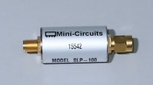 Mini circuits Slp 100 Coaxial Low Pass Filter Sma Tested