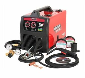 New Lincoln Electric 140 Hd Weld pak Wire Feed Mig Flux cored Welder