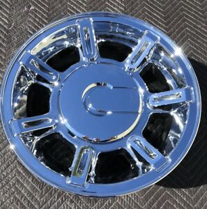 4 New Chrome 17 Hummer H2 Oem Factory Wheels Rims Yukon Sierra 6300