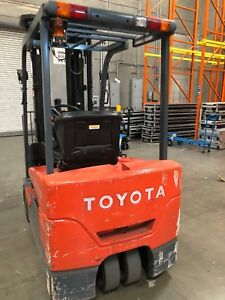 2011 Toyota Electric Sit Down Forklift 7fbeu20 6200 Hours Quad Mast 258