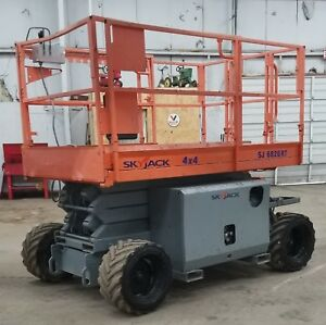 2008 Skyjack Sj6826 Rt Rough Terrain 4x4 Scissor Lift Ie Sj6832 6826
