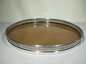 Revere Sterling Silver Gallery Serving Tray With Formica Top 12 Reticulated