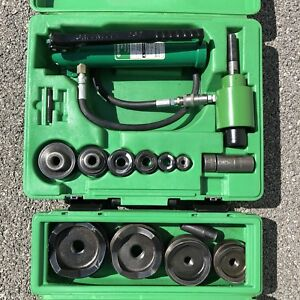 Greenlee 7306sb 7304 1 2 4 Slugbuster Hydraulic Knockout With Punches 767 746