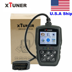 Us Ship No Tax Xtuner Am1011 Obdii Eobd Plus Code Reader Scanner Multi language
