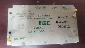 Msc 149 52670 07 Microwave Amplifier Unknown Frequency