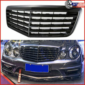 Black E63 Amg Style Grille For Mercedes Benz New W211 S211 E320 E350 E500 07 09