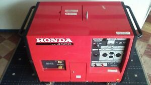 Used Honda Ex4500s Generator May Ship See Description