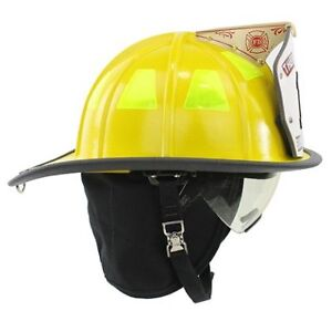 Cairns 1044 Helmet Yellow Nfpa Osha 1044 W Defender Visor Deluxe Yellow