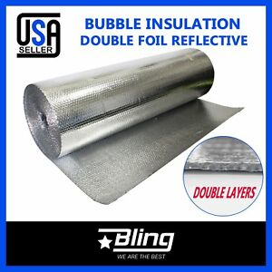 Bubble Insulation Dual Double Aluminum Foil Building Wall Roof Radiant Barrier