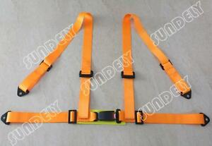 New Orange 3 4 Point Racing Seat Belt Harness For Car track Day off Road Buggy