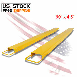60 X 4 5 Pallet Jack Fork Extension For Forklifts Lift Truck Slide On Clamp