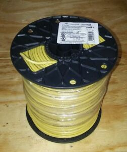 New 10 Stranded Thhn Yellow Electrical Copper Wire 500 Ft 10 Gauge 10awg Spool