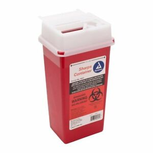 Sharps Container Biohazard Needle Disposal 2 Qt Size Medical dental tattoo 2ea
