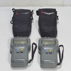 Lot Of 2 Megger Tdr 900 Time Domain Reflectometer Cable Length Meter With Case