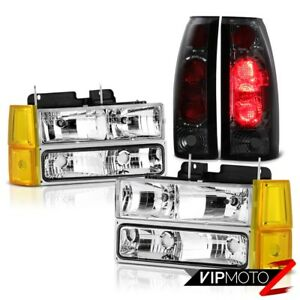 1994 1998 Gmc Sierra Chrome Headlamps Bumper Phantom Smoke Tail Brake Lamps Euro