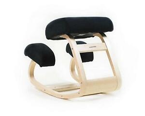 Sleekform Ergonomic Balancing Kneeling Chair Rocking Posture Wood Stool Black