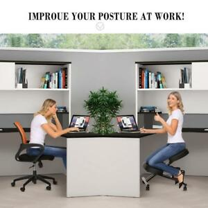 Ergonomic Kneeling Chair Adjustable Stool For Home And Office With Thick Be0r