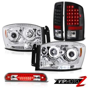 2006 Dodge Ram Hemi Drl Ccfl Headlights Tail Lights Assembly Led Roof Brake Red
