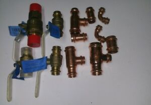 12 Lot 1 3 4 1 2 Fitting Propress 90 Valve And Coupling