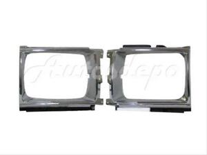 For Toyota Pickup 4wd Sr5 srt 1987 1988 Headlight Door Bezel Chrome Lh